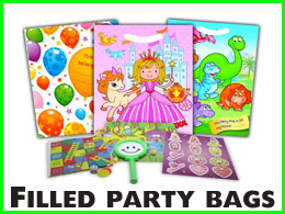Filled party bags