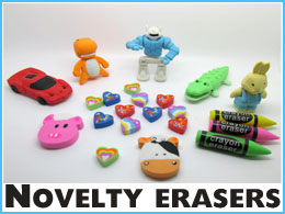 Wholesale novelty erasers