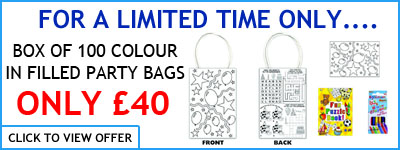 Colour your own party bags offer