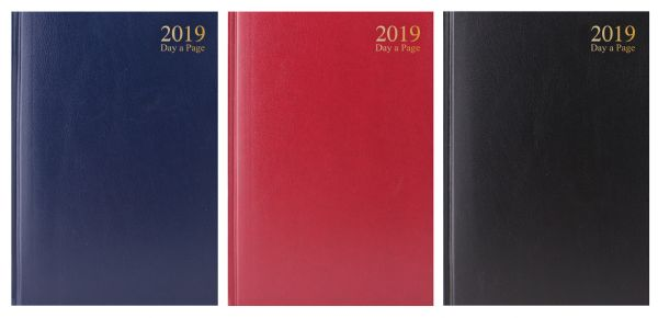 2019 A4 day a page hardback diaries