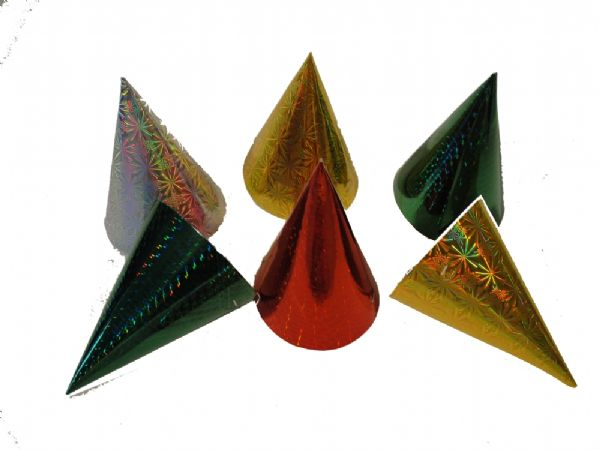 Box of 144 metallic party hats