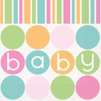 Pack of 15 baby shower napkins