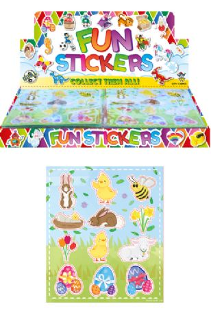Display box of 120 packs of Easter stickers TO CLEAR