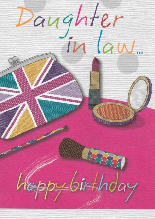 Bon Birthday Cards Daughter In Law