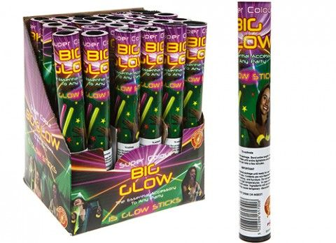 Pack of 15 glowsticks with connectors