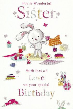 Simon Elvin Greetings Cute Sister Birthday Cards