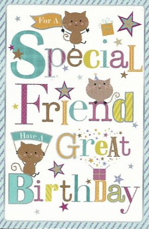 Simon Elvin Greetings Large Cute Special Friend Birthday Cards
