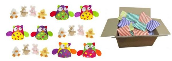 Pack of 60 Soft toys lucky dip prizes