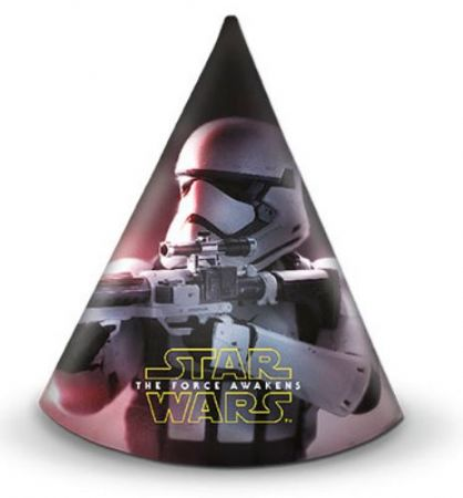 Pack of 6 Star Wars party hats - CLEARANCE PRICE