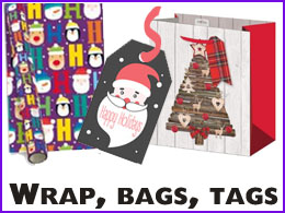 Wholesale Giftwrap, Bags and Tags